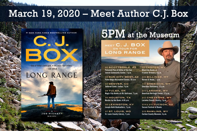 cj box autographed books at the carbon county museum 2020