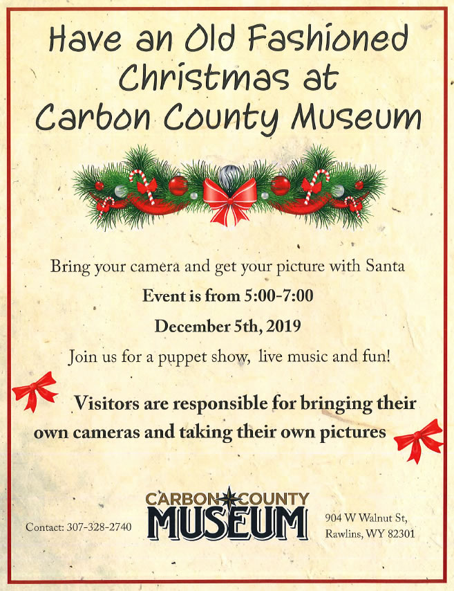 old fashioned christmas carbon county museum